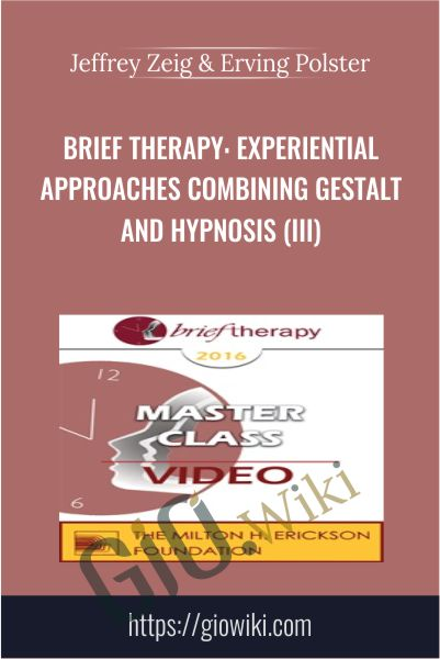 Brief Therapy: Experiential Approaches Combining Gestalt and Hypnosis (III) - Jeffrey Zeig & Erving Polster
