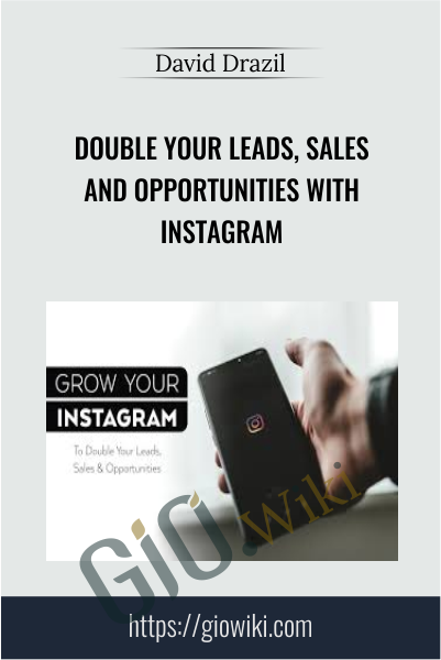 Double Your Leads, Sales And Opportunities with Instagram - David Drazil