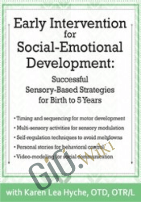 Early Intervention for Social-Emotional Development: Successful Sensory-Based Strategies for Birth to 5 Years - Karen Lea Hyche
