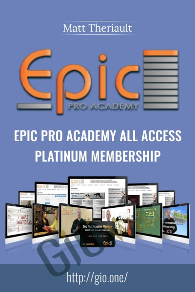 Epic Pro Academy All Access Platinum Membership