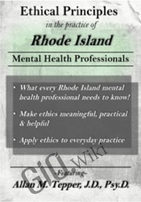 Ethical Principles in the Practice of Rhode Island Mental Health Professionals - Allan M. Tepper