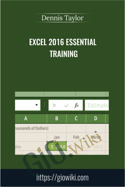 Excel 2016 Essential Training - Dennis Taylor
