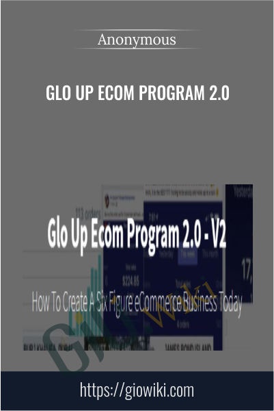 Glo Up Ecom Program 2.0
