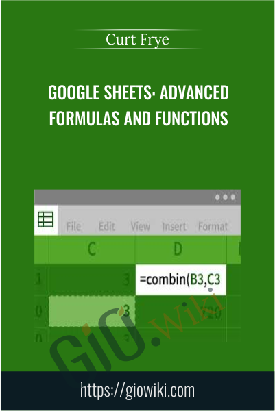Google Sheets: Advanced Formulas and Functions - Curt Frye