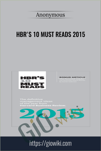 HBR's 10 Must Reads 2015