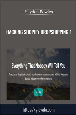 Hacking Shopify Dropshipping 1 -  Hayden Bowles