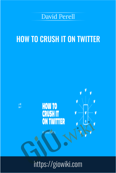 How To Crush It on Twitter - David Perell