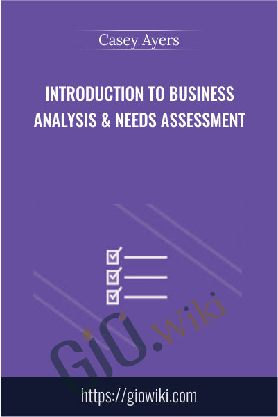 Introduction to Business Analysis & Needs Assessment - Casey Ayers