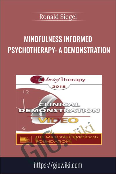 Mindfulness Informed Psychotherapy: A Demonstration - Ronald Siegel