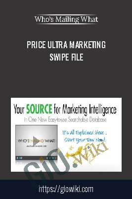 Ultra Marketing Swipe File – Who's Mailing What