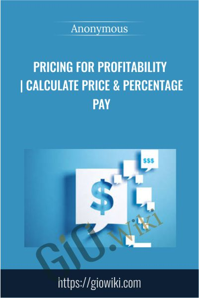Pricing for Profitability | Calculate Price & Percentage Pay