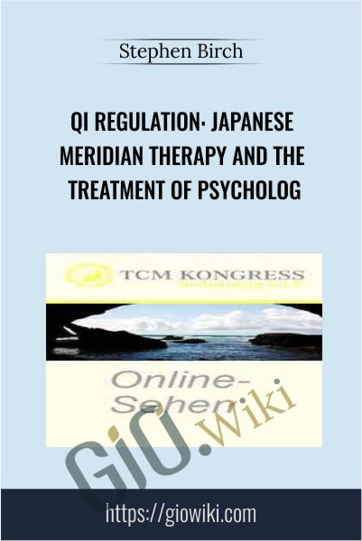 Qi Regulation – Japanese Meridian Therapy and the Treatment of Psycholog - Stephen Birch
