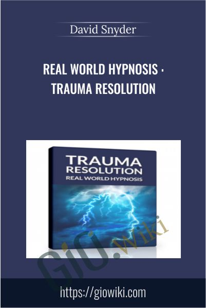 Real World Hypnosis : Trauma Resolution - David Snyder