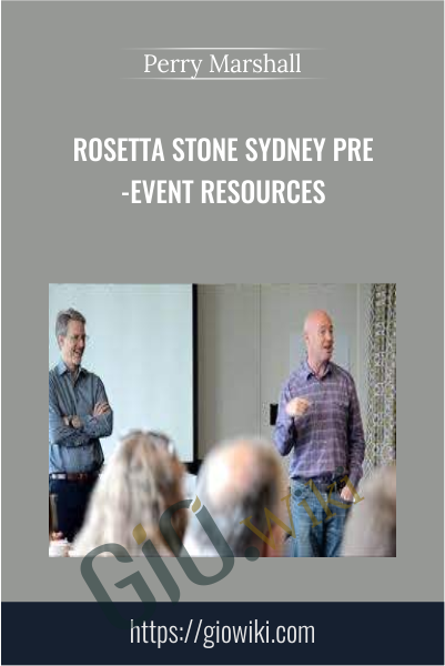 Rosetta Stone Sydney Pre-Event Resources - Perry Marshall