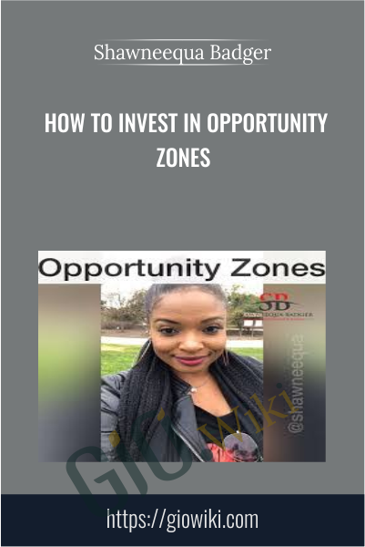 How To Invest In Opportunity Zones - Shawneequa Badger