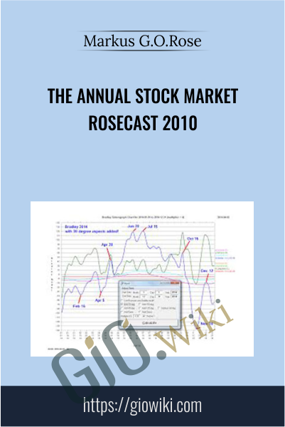 The Annual Stock Market Rosecast 2010 - Markus G.O.Rose