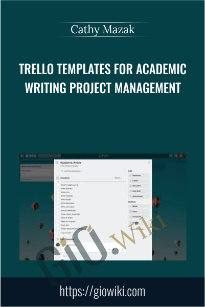 Trello Templates for Academic Writing Project Management - Cathy Mazak