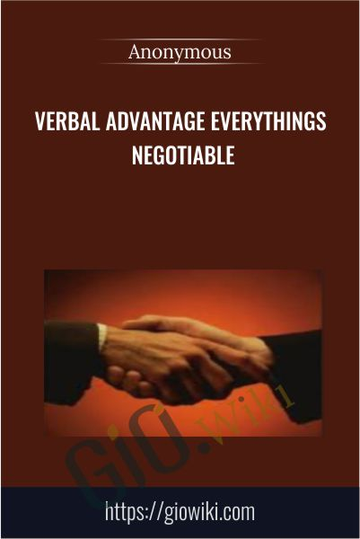 Verbal Advantage Everythings Negotiable