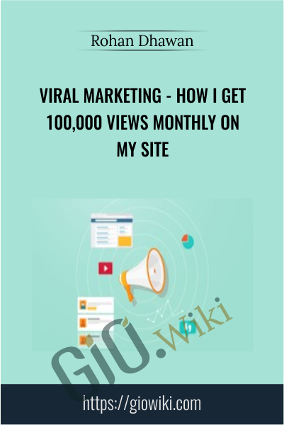 Viral Marketing - How I Get 100,000 Views Monthly On My Site - Rohan Dhawan