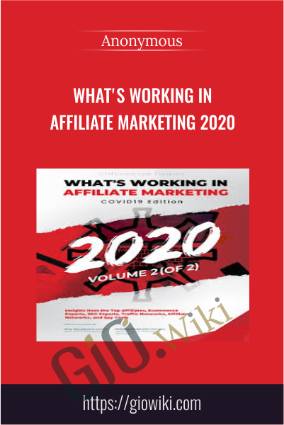 What's Working in Affiliate Marketing 2020