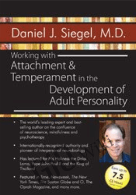 Working with Attachment and Temperament in the Development of Adult Personality with Daniel J. Siegel, M.D. - Daniel J. Siegel