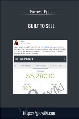 Built To Sell – Earnest Epps