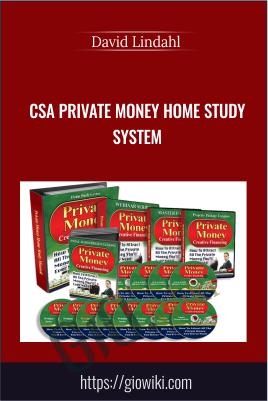 CSA Private Money Home Study System – David Lindahl