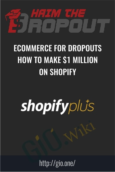 ECommerce for Dropouts - How To Make $1 Million On Shopify - HaimTheDropout
