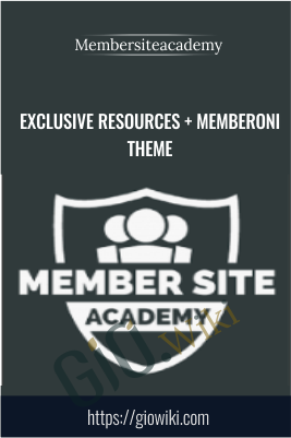 Exclusive Resources + Memberoni Theme - Membersiteacademy