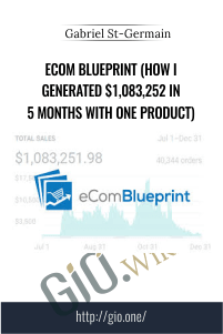 eCom Blueprint (How I Generated $1,083,252 In 5 Months With One Product) - Gabriel St-Germain