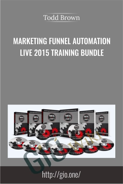 Marketing Funnel Automation Live 2015 Training Bundle - Todd Brown
