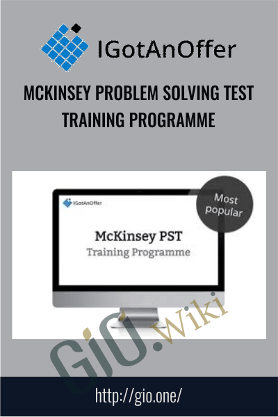 McKinsey Problem Solving Test Training Programme – IGotAnOffer