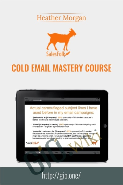 Salesfolk - Cold Email Mastery Course - Heather Morgan