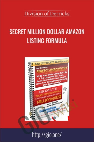 Secret Million Dollar Amazon Listing Formula - Division of Derricks