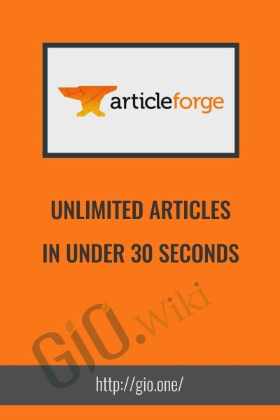 Unlimited Articles In Under 30 Seconds