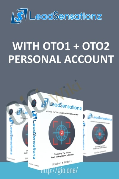 LeadSensationz With OTO1 + OTO2 Personal Account