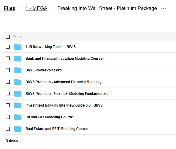 Platinum Package – Breaking Into Wall Street