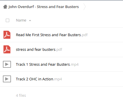 Stress and Fear Busters – John Overdurf