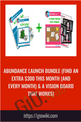 Abundance Launch Bundle (Find An Extra $300 This Month (and every month) & A Vision Board That Works)
